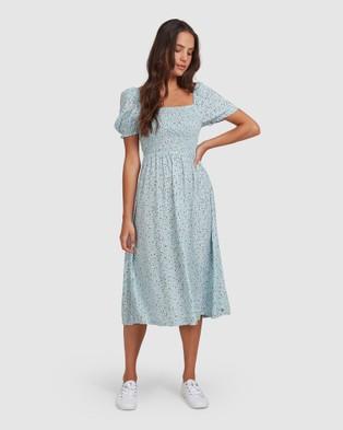 Roxy Womens Hello Petal Woven Dress - Dresses (STRATOSPHERE DITSY D)