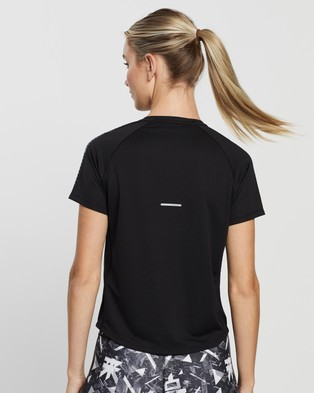 ASICS Icon SS Top - Short Sleeve T-Shirts (Performance Black & Carrier Grey)