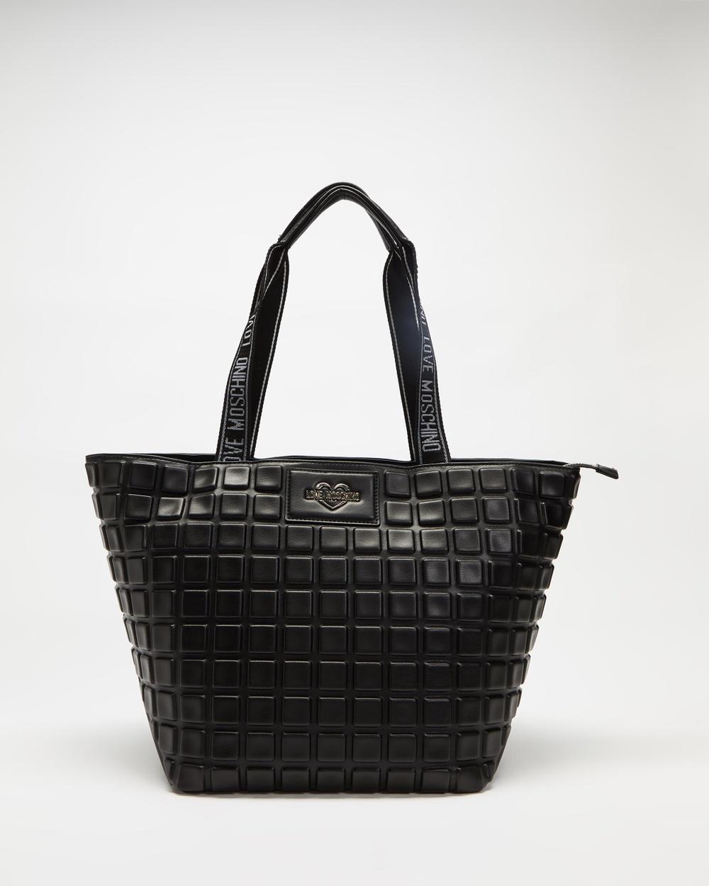 LOVE MOSCHINO Soft Embossed Handbag Handbags Nero