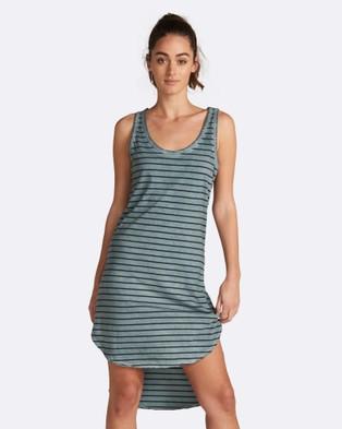 jac + mooki – Polly Stripe Dress Green