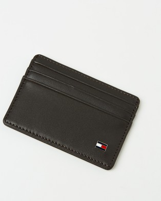 Tommy Hilfiger Eton Leather Card Holder - Wallets (Brown)