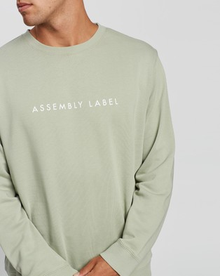 Assembly Label Logo Fleece Pullover - Sweats (Soft Green)