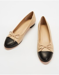 Atmos&Here - Angelina Leather Ballet Flats