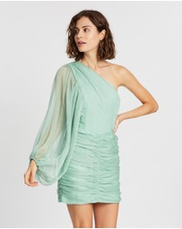 Shona Joy - Desi One-Shoulder Ruched Mini Dress