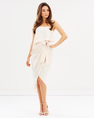 Esther – Fleur Strapless Dress – Bridesmaid Dresses Nude