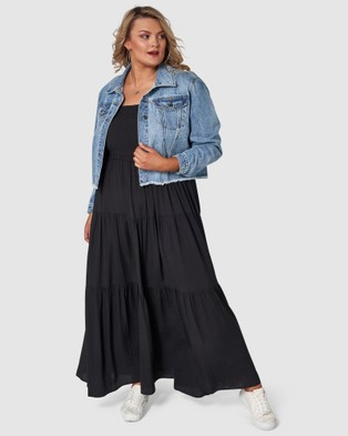 Sunday In The City Savages Maxi Dress - Dresses (Black)