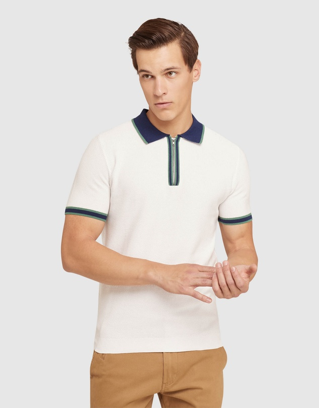 Men Connell Knitted Polo