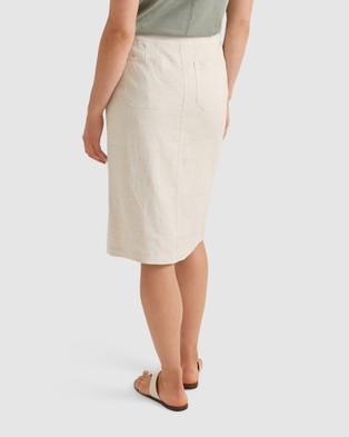 Sportscraft Sadie Linen Skirt - Skirts (String )