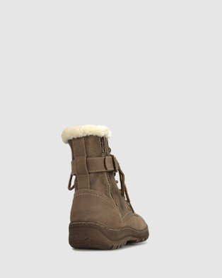 Betts Army Faux Fur Ankle Boots - Boots (Taupe)