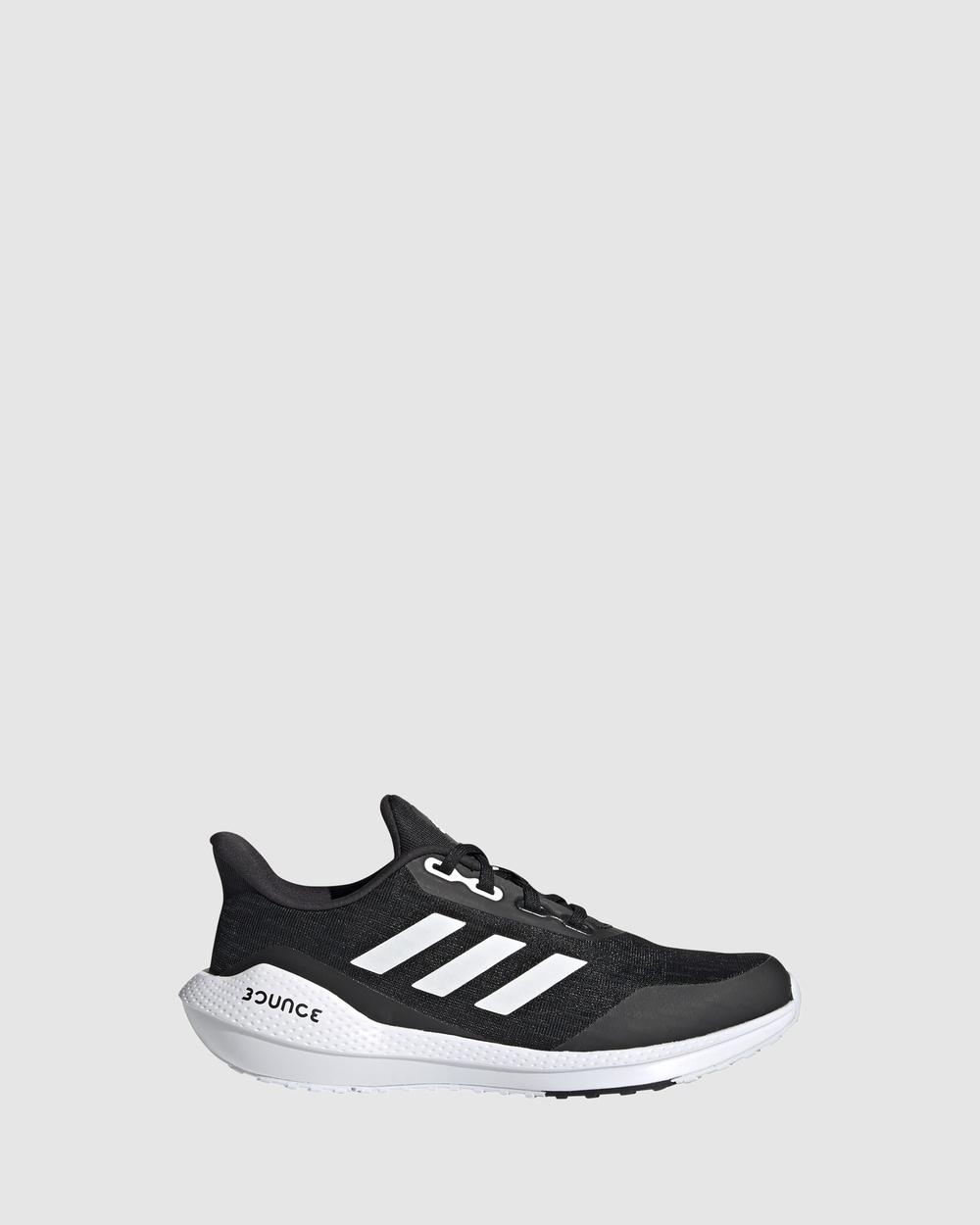 adidas Performance EQ21 Run Grade School Lifestyle Shoes Black/White/Black