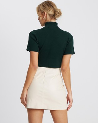Tussah Elmani Knit Top - Cropped tops (Emerald)