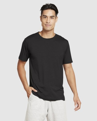 Boody Organic Bamboo Eco Wear - Crew Neck T Shirt - Short Sleeve T-Shirts (Black) Crew Neck T-Shirt