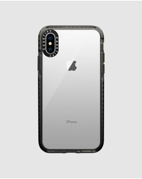 Casetify - Impact Protective Clear Case for iPhone XS/ iPhone X – Black