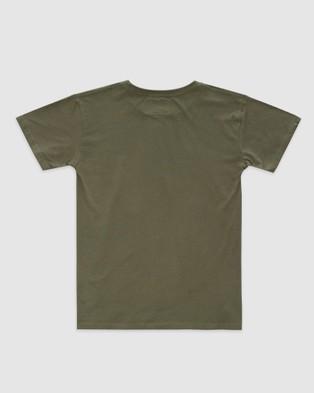 Stock & Co. - Original Explorer Tee   Teens - T-Shirts & Singlets (OLIVE) Original Explorer Tee - Teens