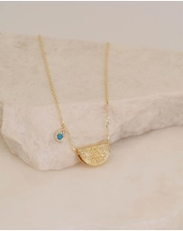 By Charlotte - December Grow With Grace Gold Pendant Necklace