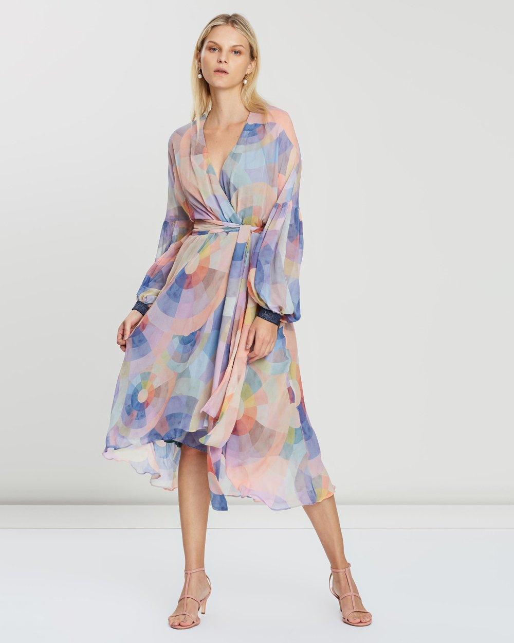 Theory Wrap Dress By Ginger Smart Online The Iconic Australia