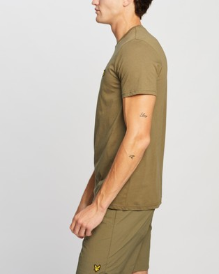 Lyle and Scott Plain T Shirt - T-Shirts & Singlets (Lichen Green)