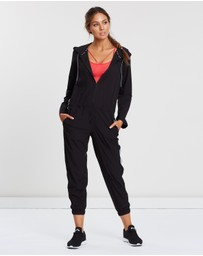 DKNY - Roll Sleeve Stripe Jumpsuit