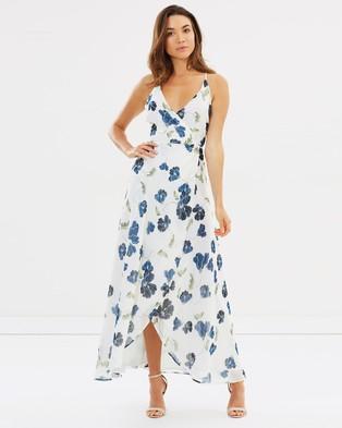 Bardot – Ruffle Split Dress – Printed Dresses Stencil Floral