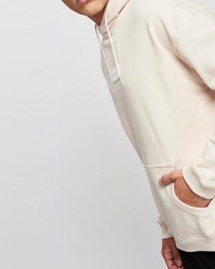 adidas Originals R.Y.V. Silicone Double Linear Badge Hoodie - Hoodies (Halo Ivory)