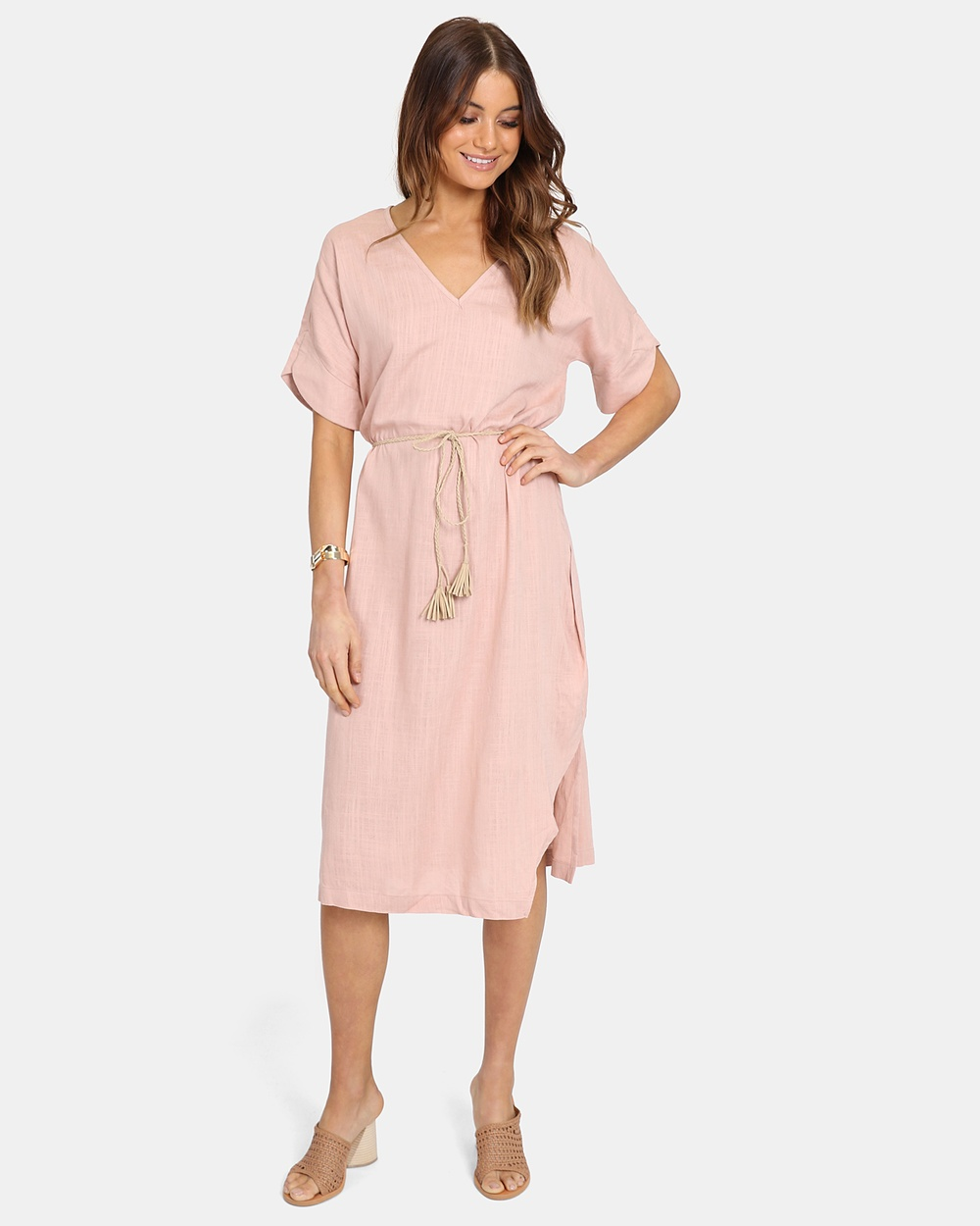 Lost in Lunar Blush Sally Tie Dress