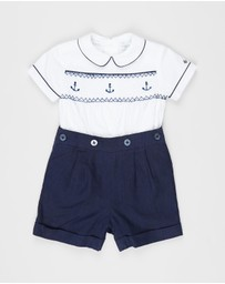 Polo Ralph Lauren - Smock Broadcloth Short Set - Babies