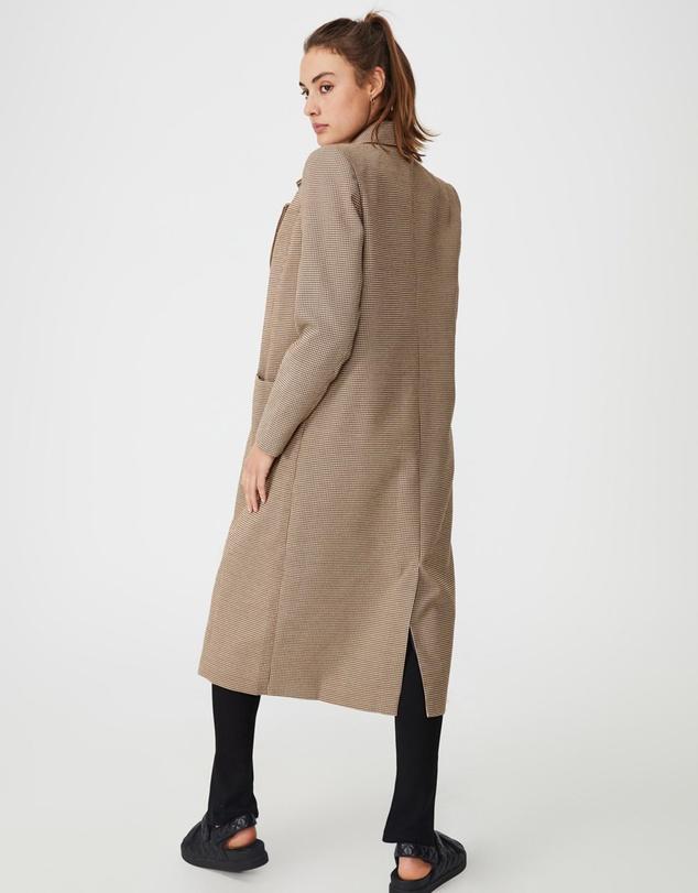 Women The Longline Patch Pocket Coat