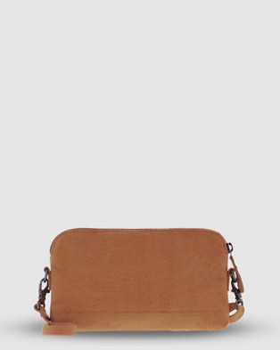 Cobb & Co Kendra Leather Crossbody - Handbags (Tan)