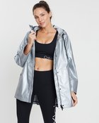 Hi-Low Hooded Rain Slicker Jacket