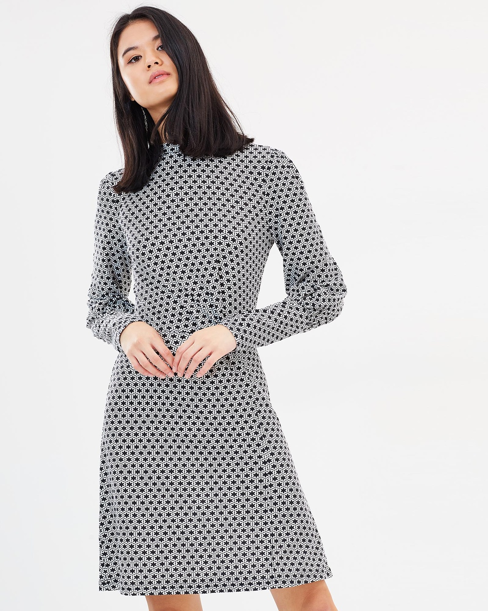 Otto Mode Another Love Dress Printed Dresses Black Another Love Dress