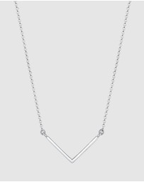 Elli Jewelry - Necklace V-Chain Geo Minimal Trend Basic 925 Sterling Silver