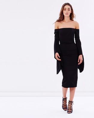 Asilio – The Shiralee Dress – Bodycon Dresses Black Iris