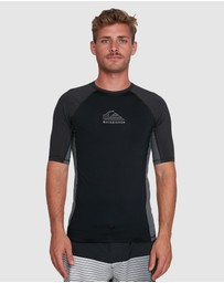 Quiksilver - Mens Backwash Short Sleeve UPF 50 Rash Vest