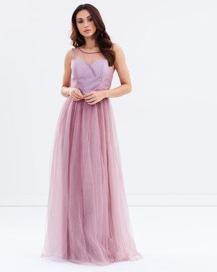 Chi Chi London – Jordyn Dress – Bridesmaid Dresses (Mauve)