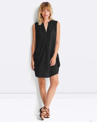Seafolly – Sleeveless Boyfriend Beach Shirt – Swimwear Black
