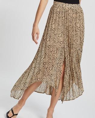 Atmos&Here Myla Pleated Skirt skirts Beige Animal