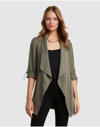 Forever New - Carmen Longline Waterfall Jacket