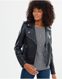 Warehouse - Leather Biker Jacket
