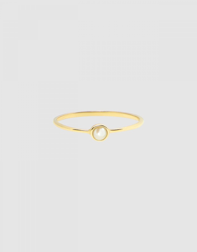 Women Solid Gold - Moonglade Ring
