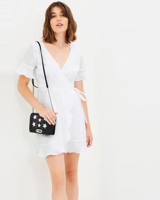 Jillian Boustred – Florence Wrap Dress White