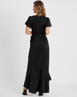 CHANCERY Jonas Wrap Dress - Bridesmaid Dresses (Black)
