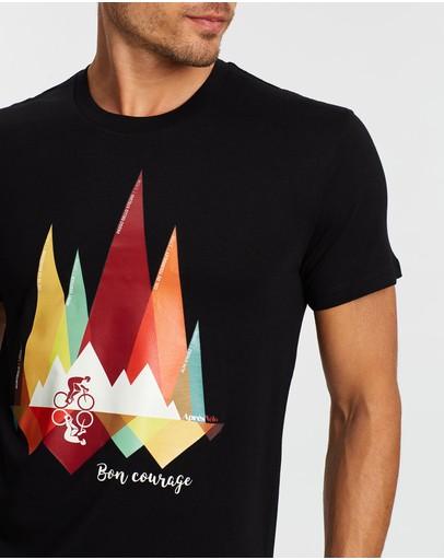 Après Vélo Bon Courage T-shirt Black