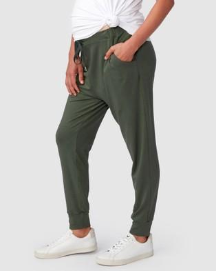 Pea in a Pod Maternity Jaya Slouch Pants - Sweatpants (Khaki)