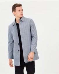 Burton Menswear - Prince Of Wales Single Breasted Mac Jacket