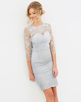 Chi Chi London – Tianah Dress – Bridesmaid Dresses (Grey)