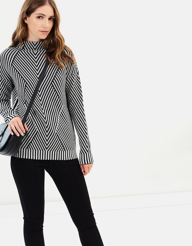 Karen Millen - Striped Knitted Jumper