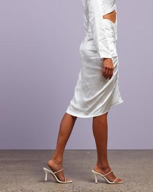 4th & Reckless Lottie Skirt - Skirts (White Satin)