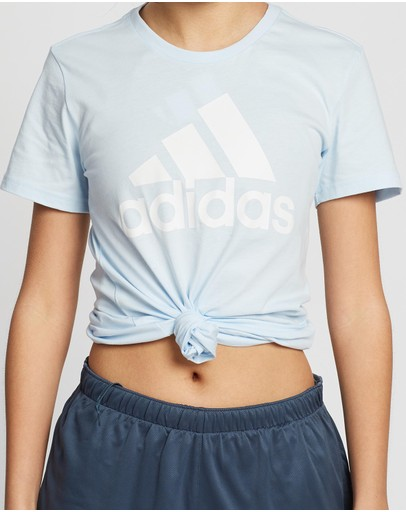 Adidas Performance Must Haves Badge Of Sport Tee Sky Tint