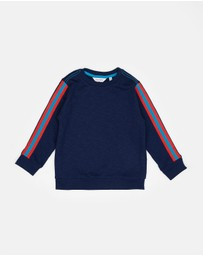 Outfit Kids - Stripe Sleeve Crew Sweater