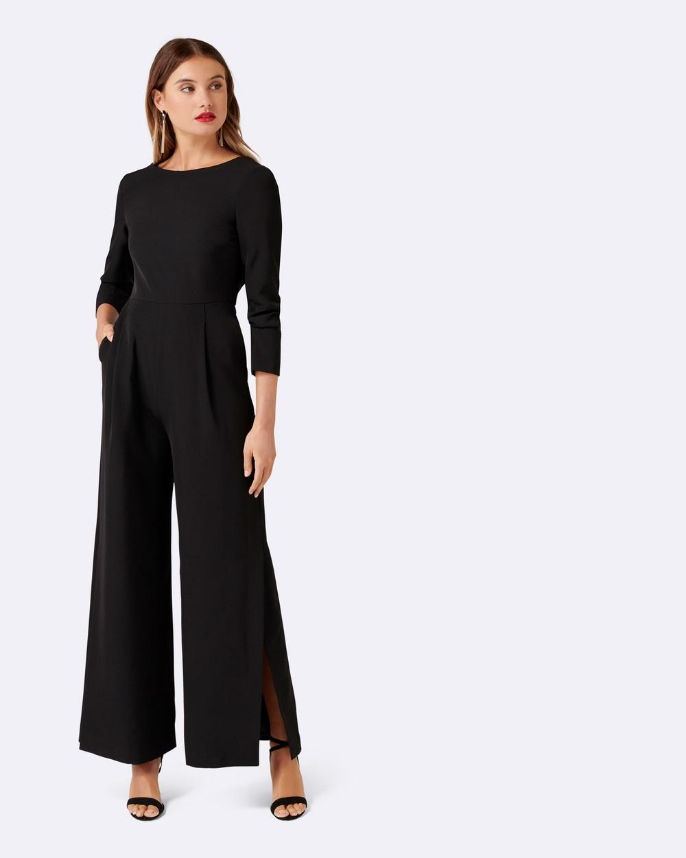 Forever New Designer Edit Rachel Drape Back Jumpsuit Bridesmaid Dresses Black Rachel Drape Back Jumpsuit